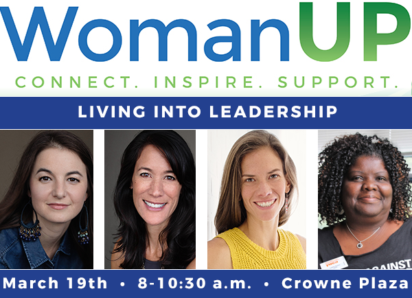 WomanUP                           presents Living into Leadership