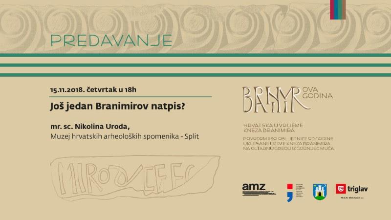 AMZ – Predavanje: Još jedan Branimirov natpis? (PRESS)