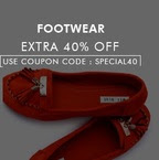 Extra 40% off on Clothing & Footwear