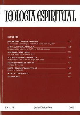 Revista 'Teología Espiritual' Número 178