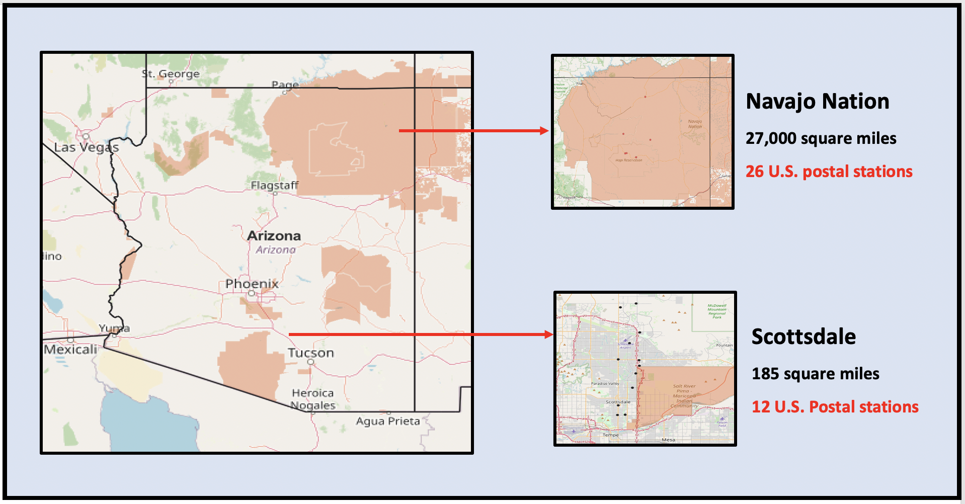Poor roads and sparse U.S. Postal Service on Navajo Nation prevents residents from voting.