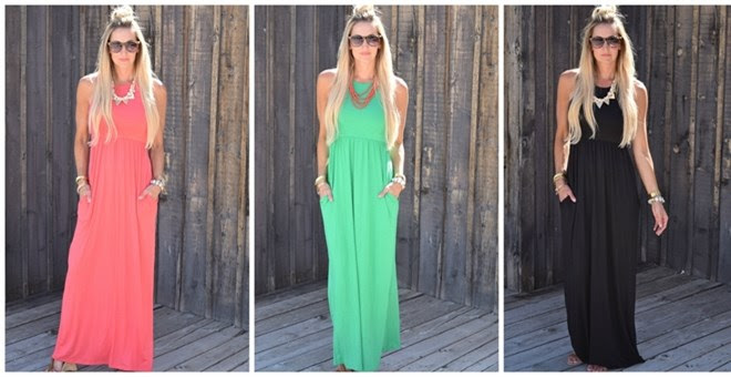 HOT!! Luxe Classic Maxi Dress!