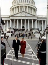 The Reagans Depart the Capitol Building