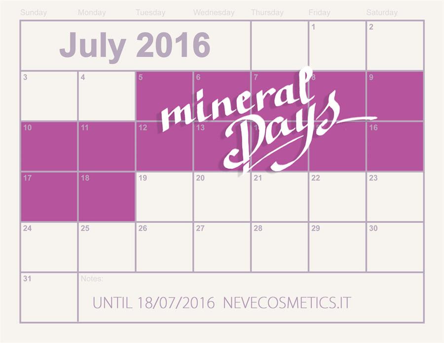 Save the date! Arrivano i Mineral Days