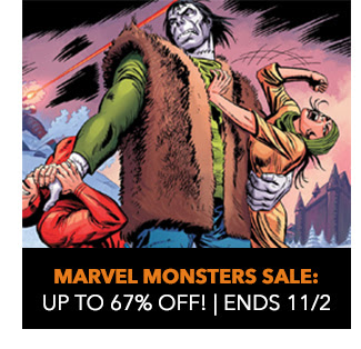 Marvel Monsters Sale: up to 67% off! Sale ends 11/2.