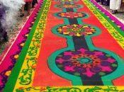 La alfombra del Paseo de la Sexta es una expresión de las tradiciones culturales y religiosas de la Semana Santa.
