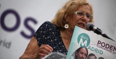 La candidata a la Alcaldía de Madrid por Ahora Madrid, Manuela Carmena.- JAIRO VARGAS