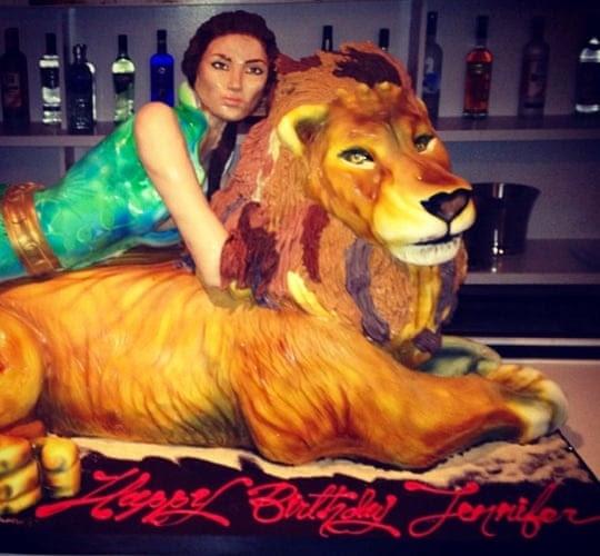 J-Lo's birthday cake.