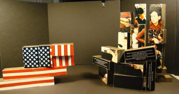 Area 3 - My Lai Massacre sculptural collage