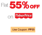 Flat 55% off on selected toys by Fisher Price.