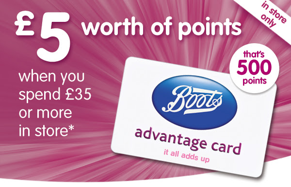 £5 worth of points when you spend £35 in store*