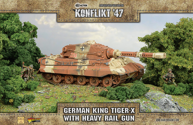 New Konflikt '47 German King Tiger-X with Heavy Rail Gun