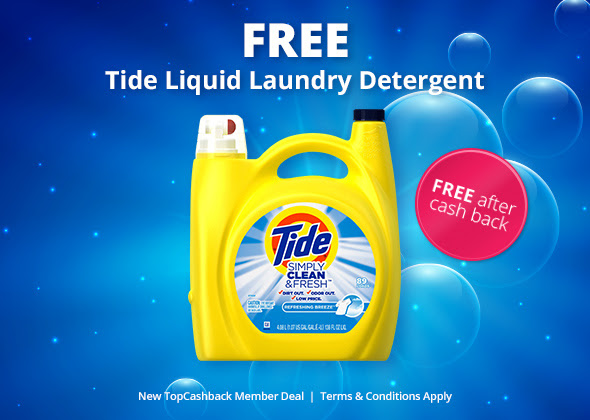 FREE 138 fl oz Tide liquid lau...