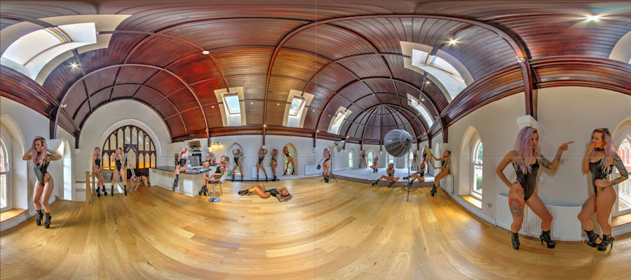 Multiple exposure virtual tour