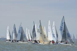 J/24s sailing at USA Nationals in San Francisco