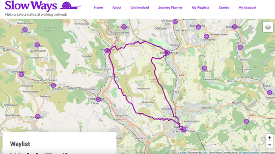 Welsh Triangle Route Map