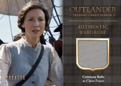 Cryptozoic Entertainment at New York Comic Con 2018 Outlander Trading Cards Season 3 — Wardrobe Cards CE4
