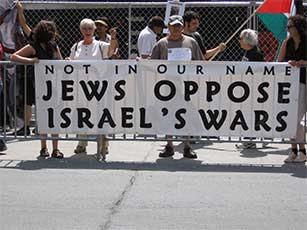 Jews oppose israels war