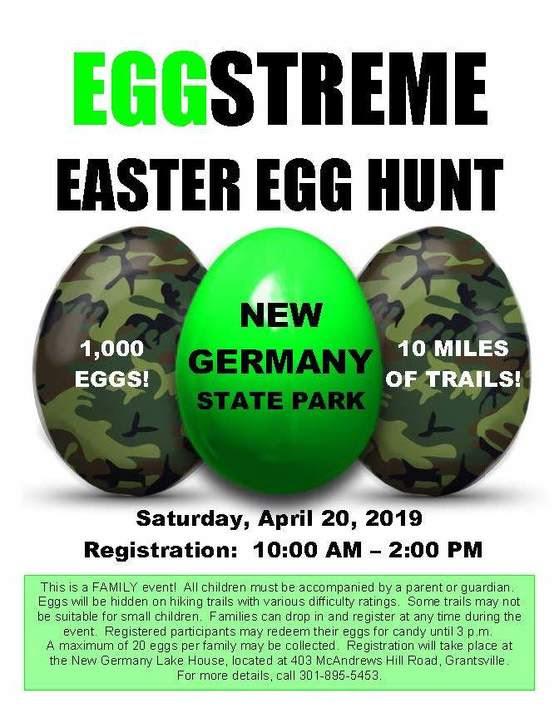 EGGstreme Easter Egg Hunt Flyer 2019