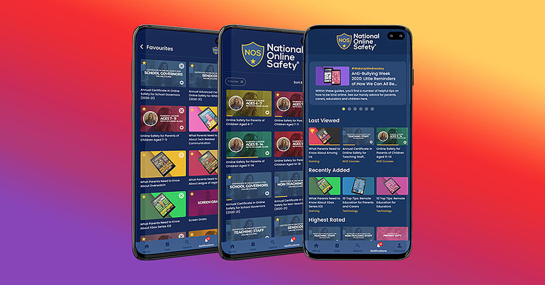 App Launch_Three Phones_National Online Safety