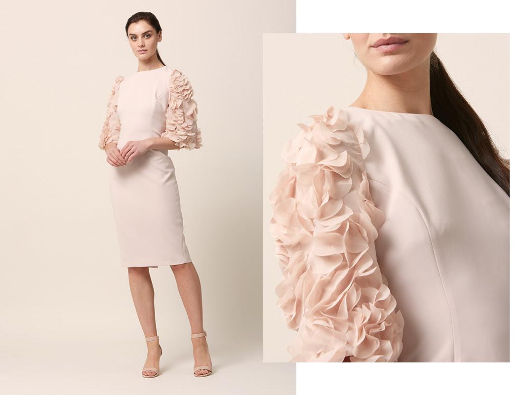 Petal Blush Dress Sleeve Detail