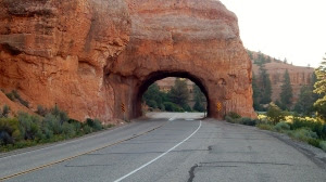 Roadway arch on State Hwy 12