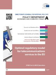 cover study Optimal regulatory model for telecommunications services in the Eu