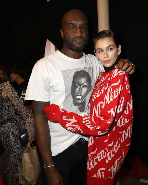Backstage with Kaia Gerber at the spring/summer 2018 Off/White show