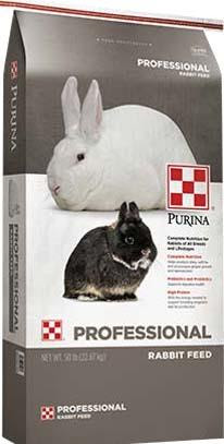 Photo 3: Label, Purina Professional Rabbit Feed
