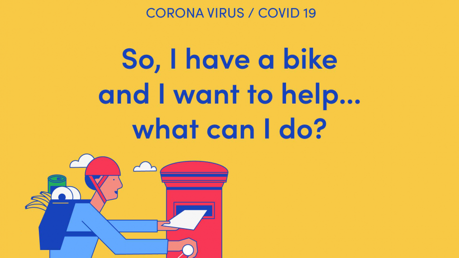 I have a bike and I want to help...What can I do?