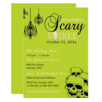 Scary Soiree Halloween Party Invitation