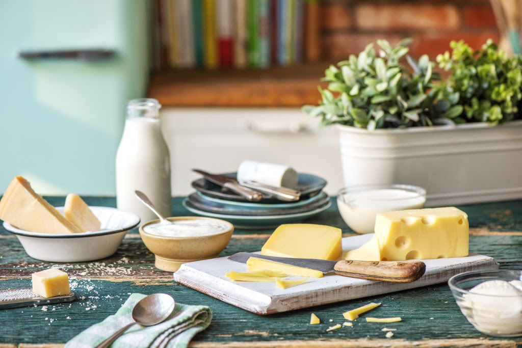 Cheese-board-butter-cream-dairy-kitchen-counter
