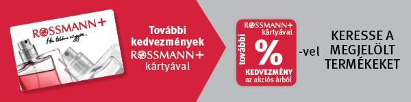 Rossmann+ kártyával most még kedvezőbb áron!