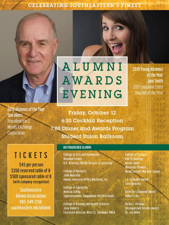 Alumni Awards Evening 2018