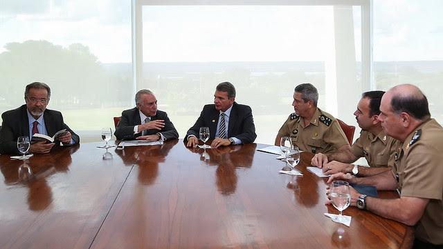 Actual presidente golpista Michel Temer en reunión sobre Seguridad Pública en Brasilia  - Créditos: Marcos Corrêa/PR