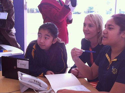 Joining in Japanese class with Mangere Central School