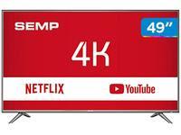 Smart TV 4K LED 49? Semp SK6200 Wi-Fi HDR
