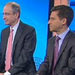 David Faber of CNBC questioned Brian Roberts, chief of Comcast, and Rob Marcus, chief of Time Warner Cable, about regulatory approval for their $45.2 billion deal.