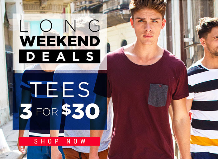 Hallensteins tees & singlets 3 for $30 + free shipping on all Australian orders over 50$