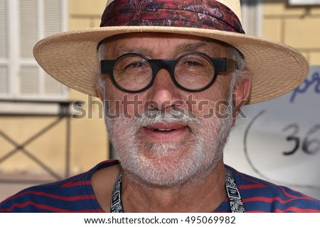 Marseille, France - October 06, 2016 : French cartoonist Pierre Ballouhay at the 5th edition of the International festival of press and political cartoons at l'Estaque.