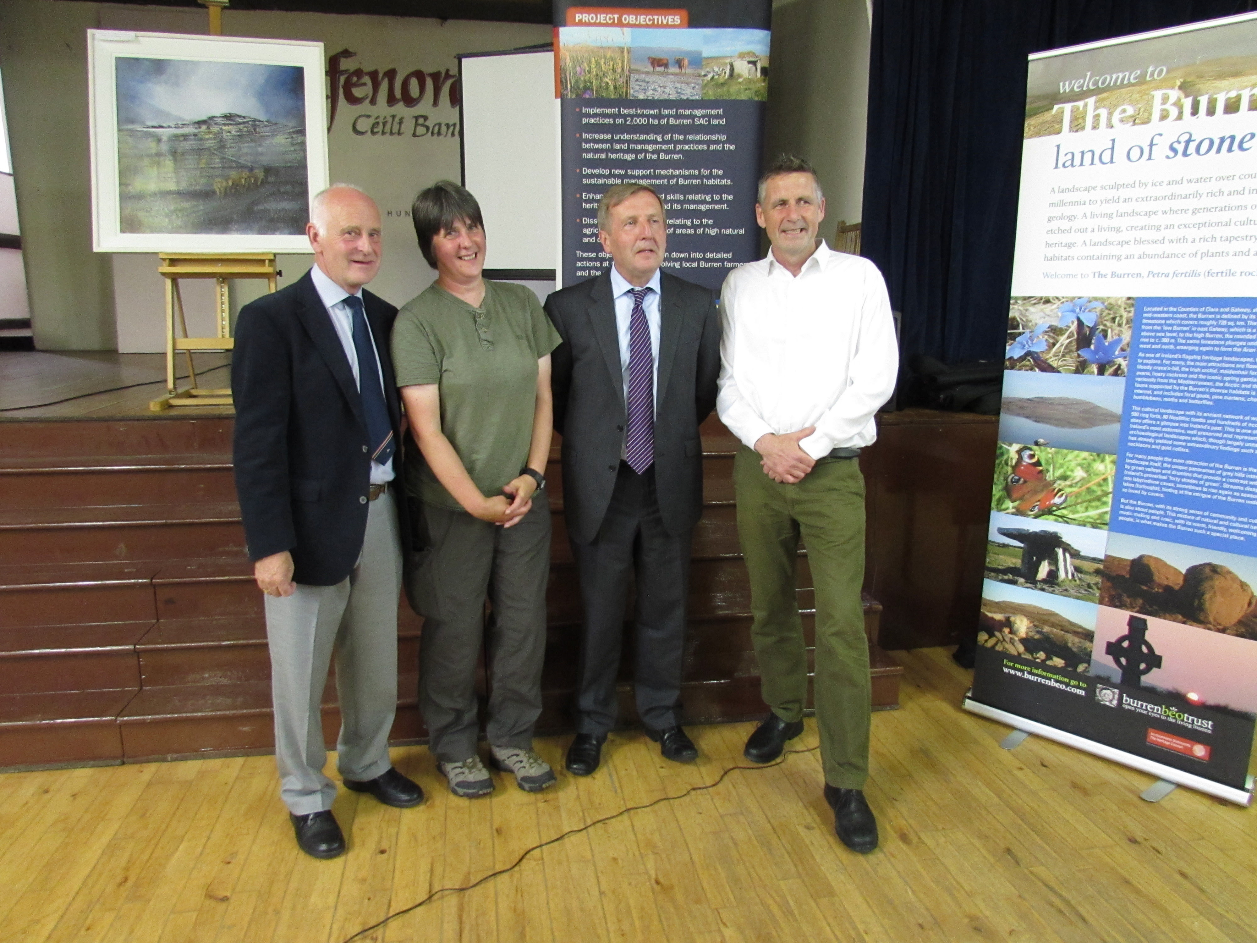 Minister Creed with Burren Life team