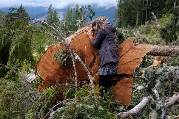 Activista canadiense. Foto Jennifer Osborne-Reuters