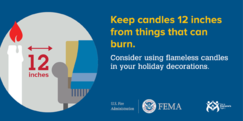 Candle Safety Graphic