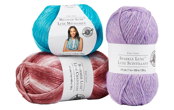 Metallic Luxe, Shimmer Luxe & Sparkle Luxe Yarn