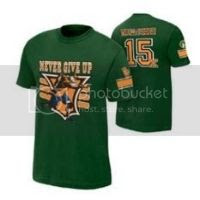 John Cena 15X Green Authentic T-Shirt
