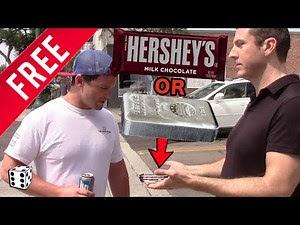Free candy bar or silver bar