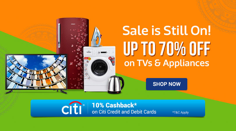 Sale is Still ON on TVs and Appliances