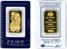 PAMP Lunar Goat Gold Bar