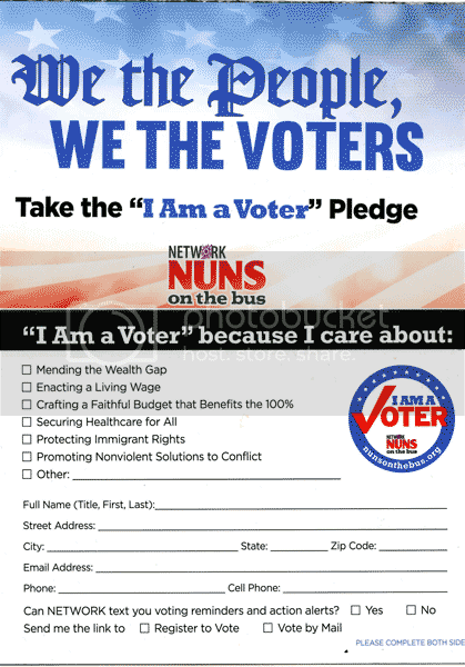 Nuns on bus pledge