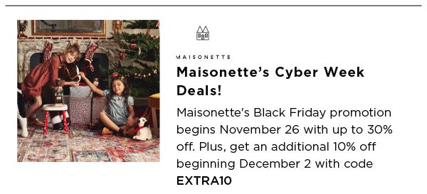 Maisonette Best Black Friday Sales